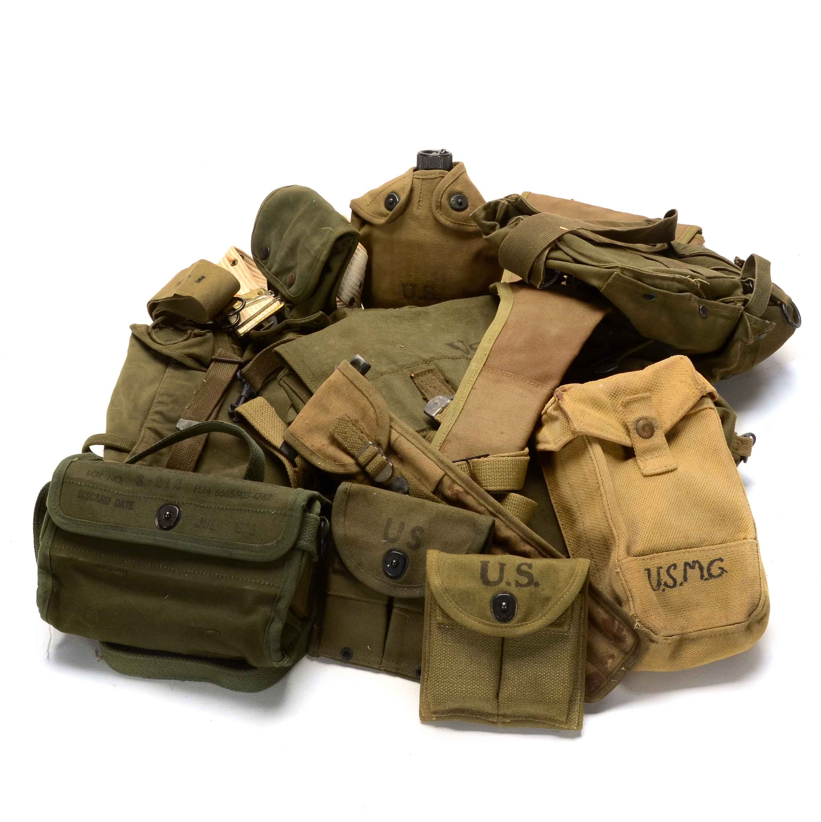 WWII-Era US Military Gear and Pouches