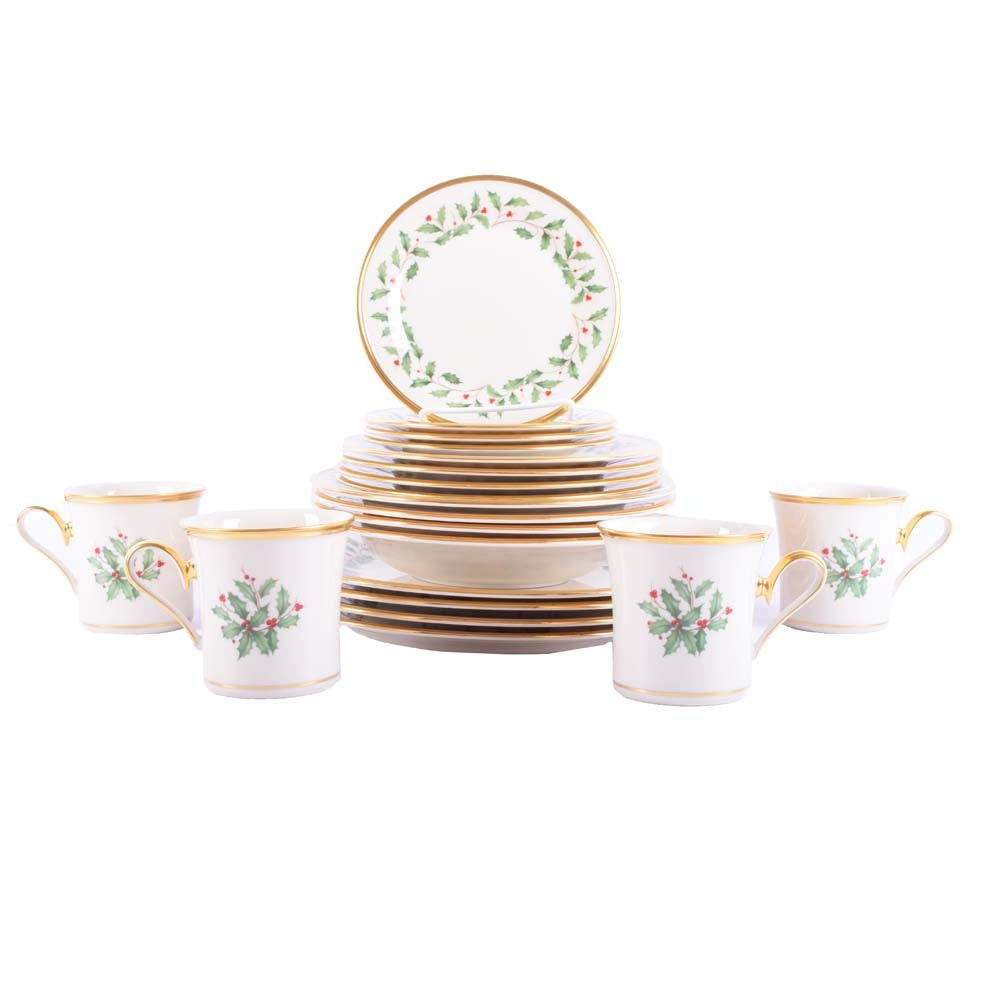 """Lenox """"Holiday"""" Dimension Collection Place Settings for Four"""