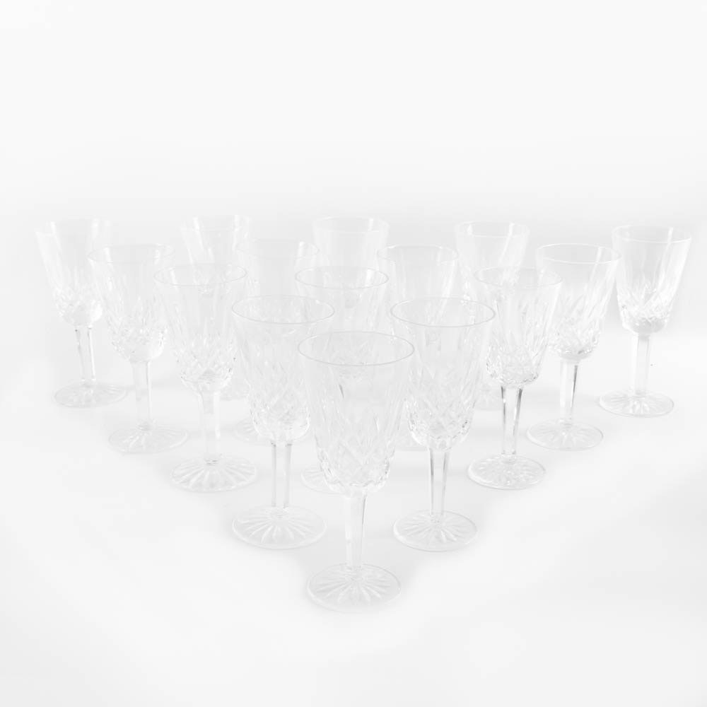 "Waterford Crystal ""Lismore"" Sherry Glasses"