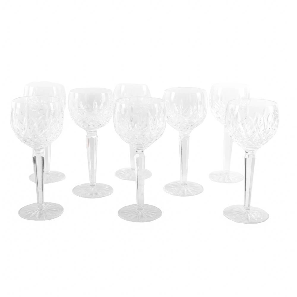 """Waterford Crystal """"Lismore"""" Wine Hocks"""