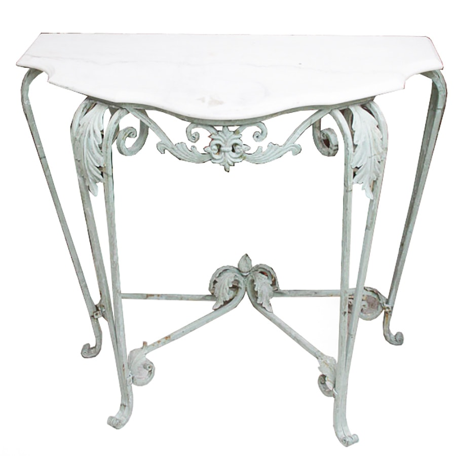 Marble Topped French Style Console Table ...