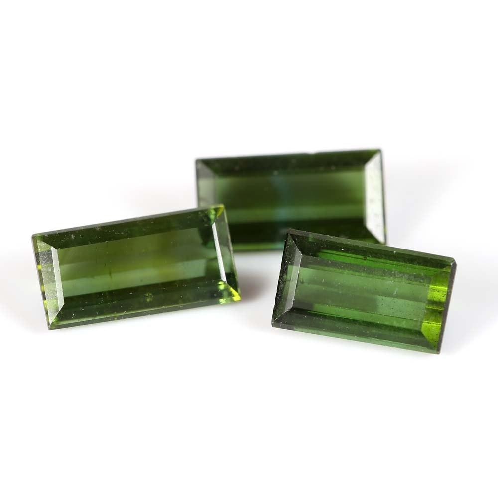 Loose 3.65 CT Green Tourmaline Gemstones