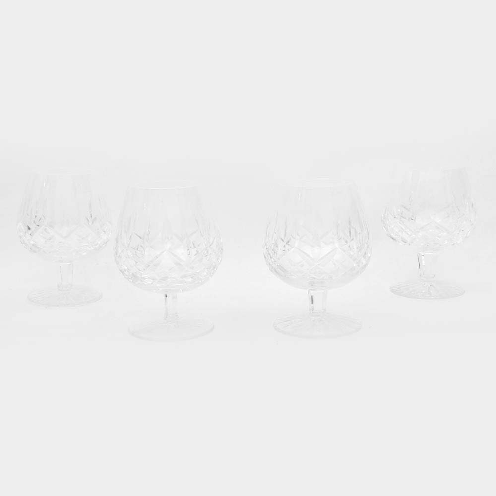 """Waterford Crystal """"Lismore"""" Brandy Sniffers"""