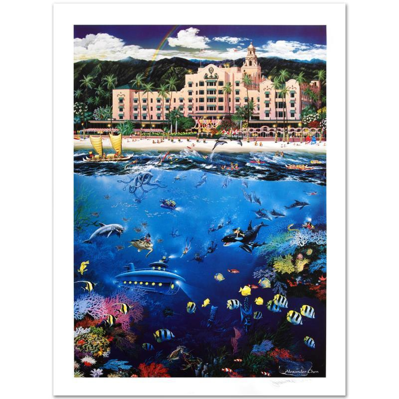 """Waikiki Beach"" Limited Edition Lithograph"