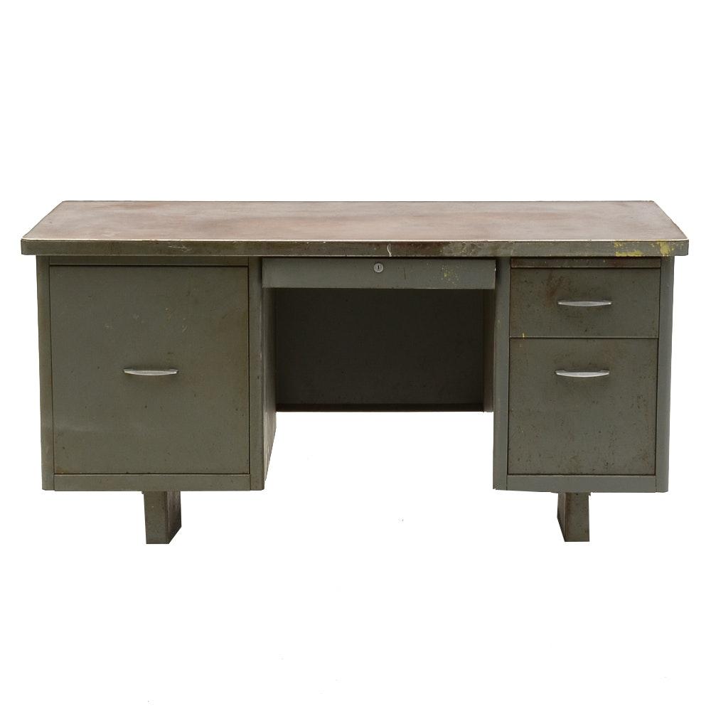 Vintage Industrial Style Metal Desk