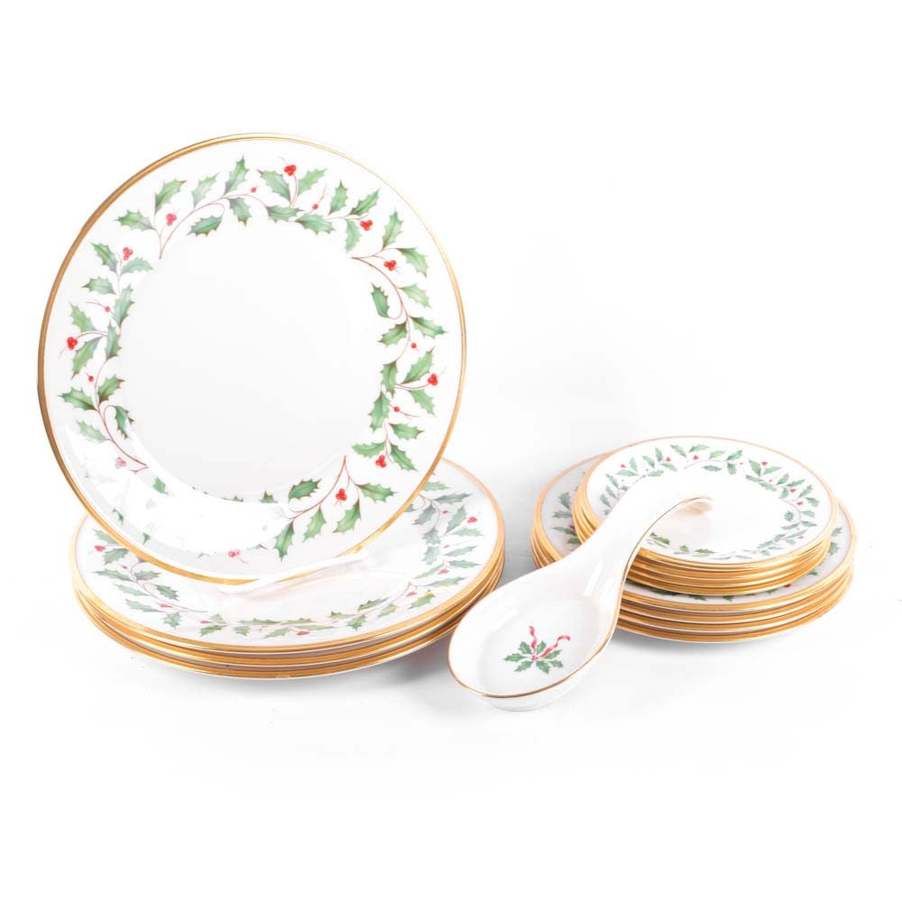 "Lenox ""Holiday"" Dimension Collection Fine China Set"