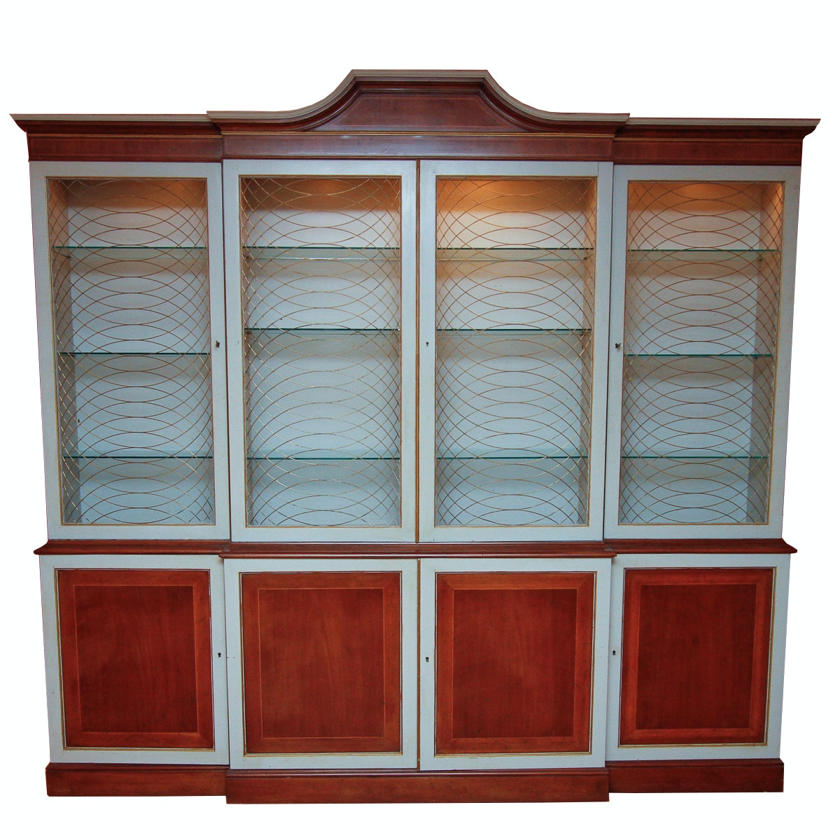 Mid Century Style Breakfront China Cabinet