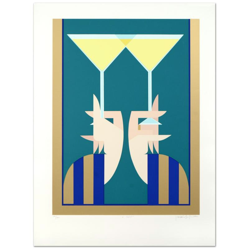 """A Toast"" Limited Edition Serigraph by Giancarlo Impigia"