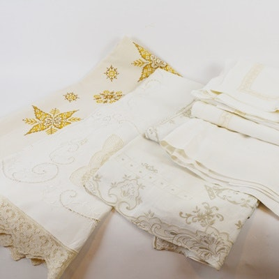 Vintage Table Linen Collection of Tablecloths