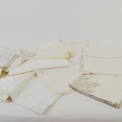 Vintage Table Linens Including Tablecloths and Napkins