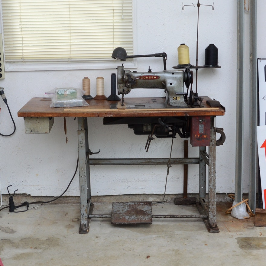 Upholstery Sewing Machine >> Vintage Consew Upholstery Sewing Machine