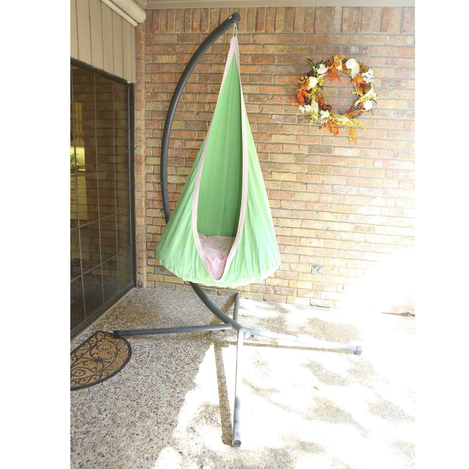 Hanging Hammock Chair with Freestanding Base