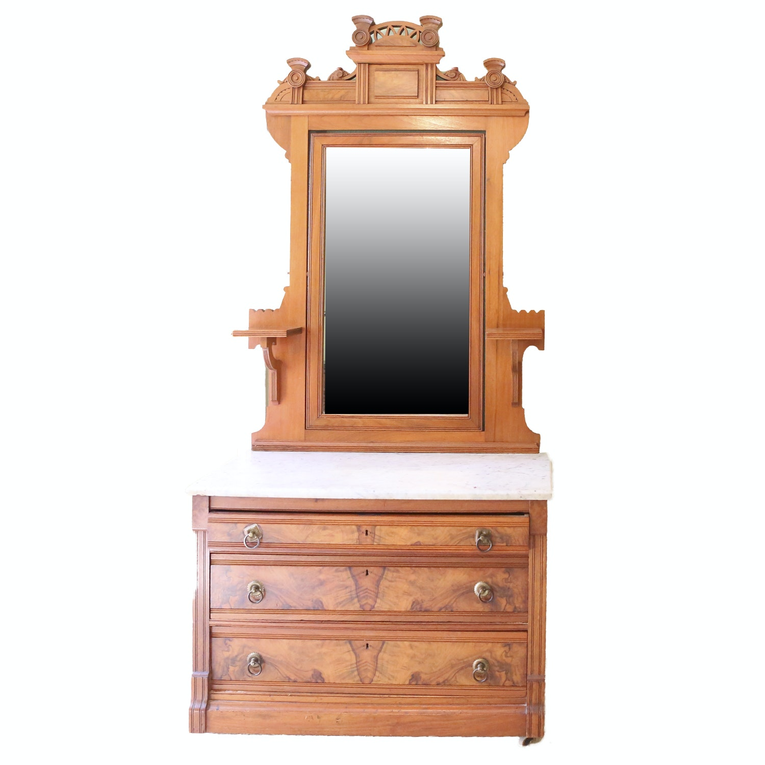 Victorian Style Chest with Vanity Mirror