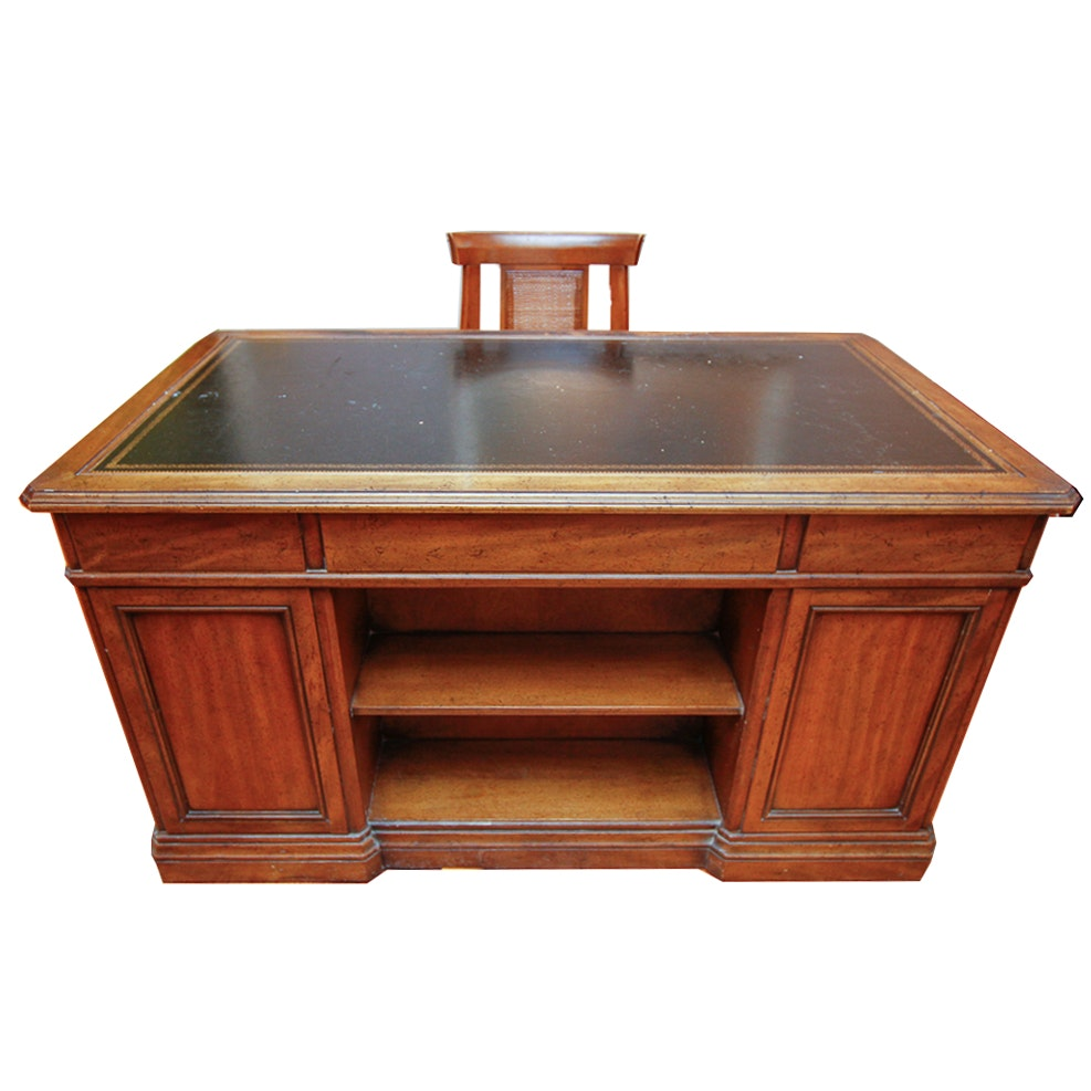 Vintage Sligh-Lowry Mahogany Desk and Mid-Century Modern Chair