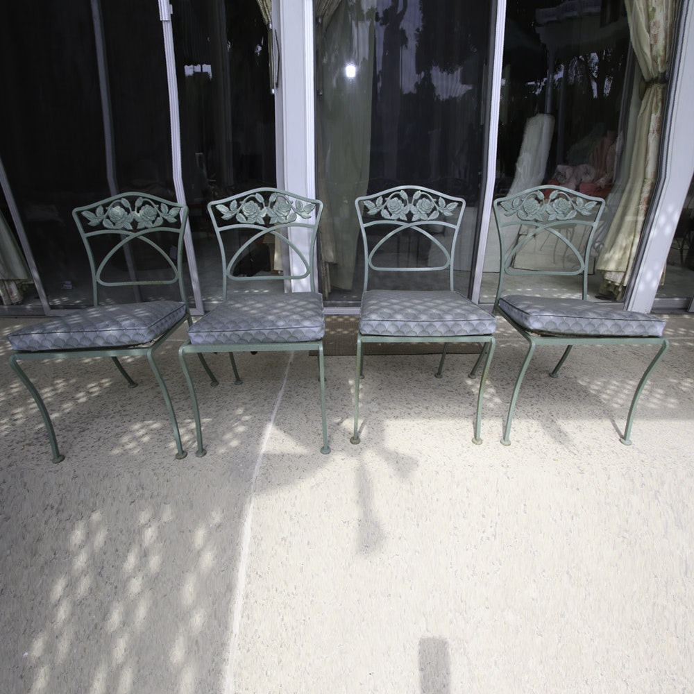 Four Iron Patio Chairs