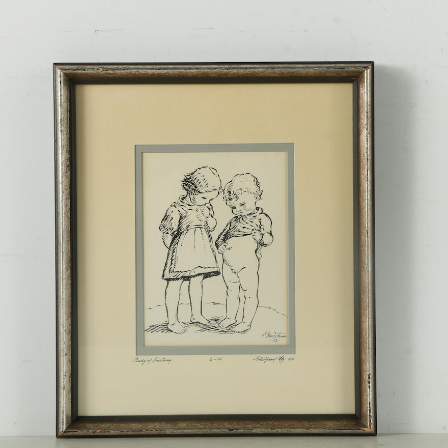 Signed Artist Proof Lithograph on Paper \