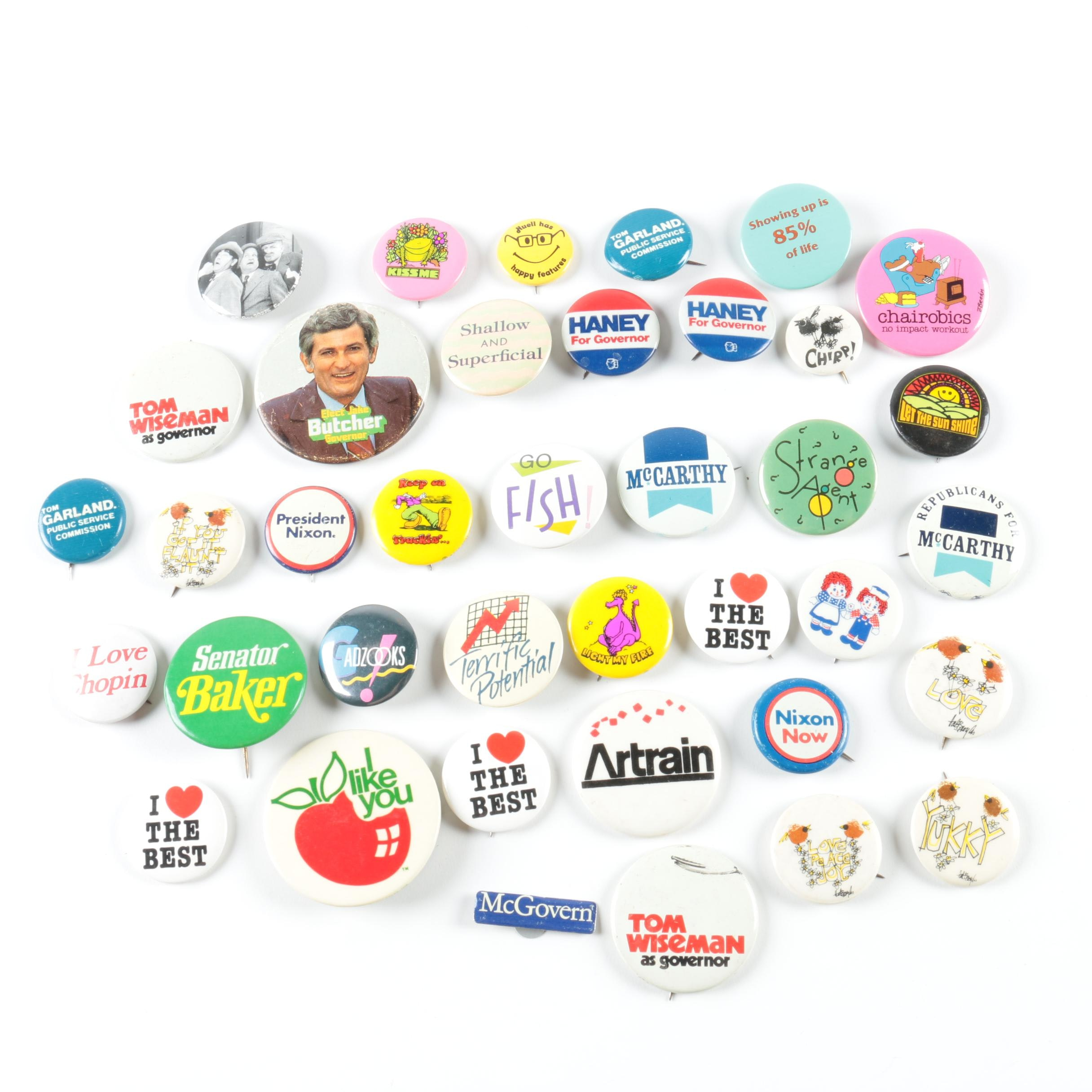 Vintage Pinback Buttons