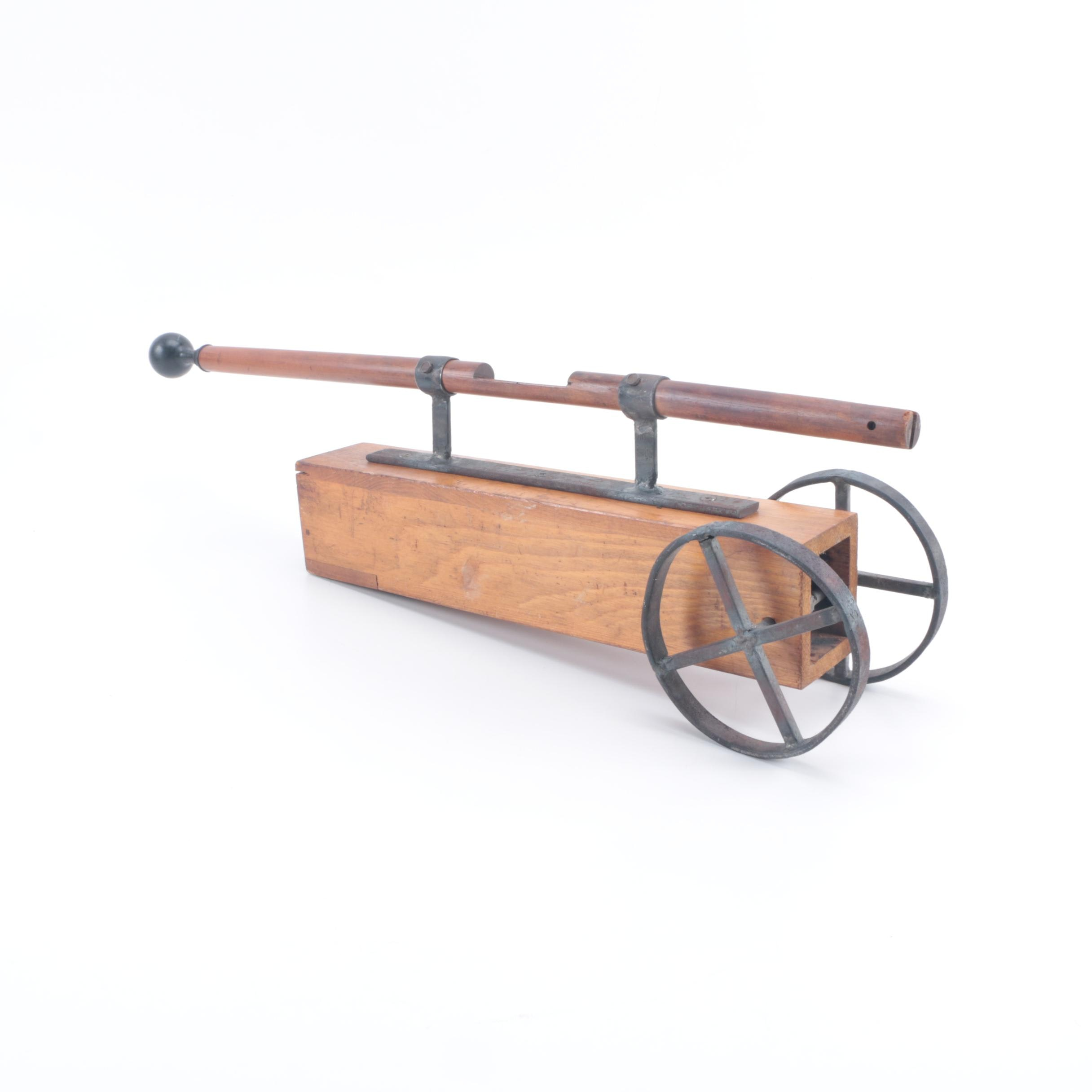 Handmade Two-Wheeled Toy with Reclaimed Wooden Organ Pipe