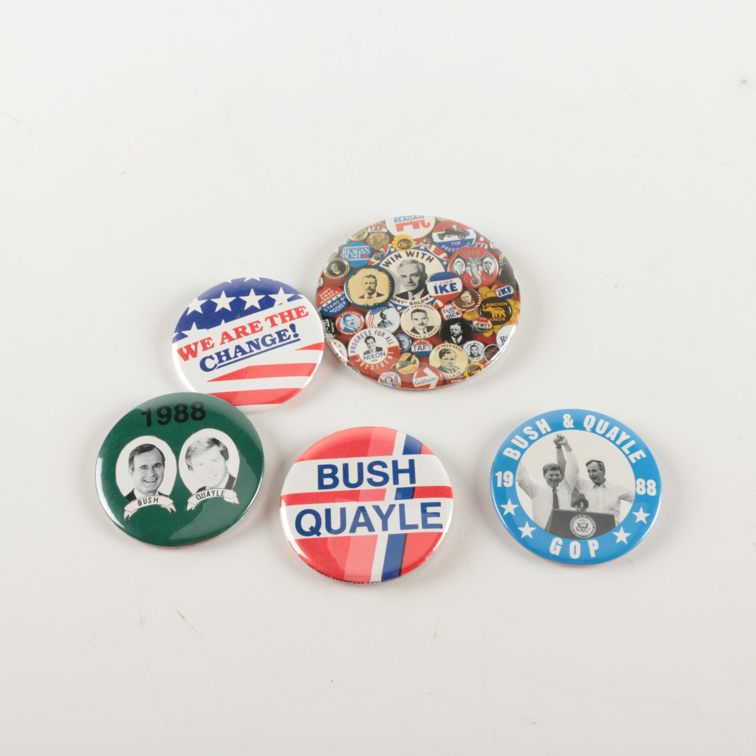 Collection of Five Political Buttons