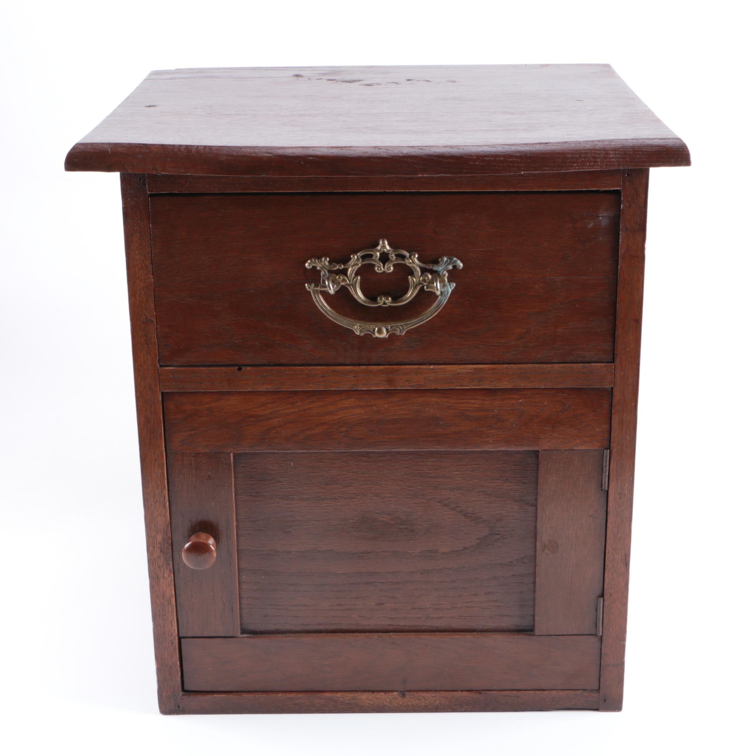 Vintage Oak Cabinet Nightstand