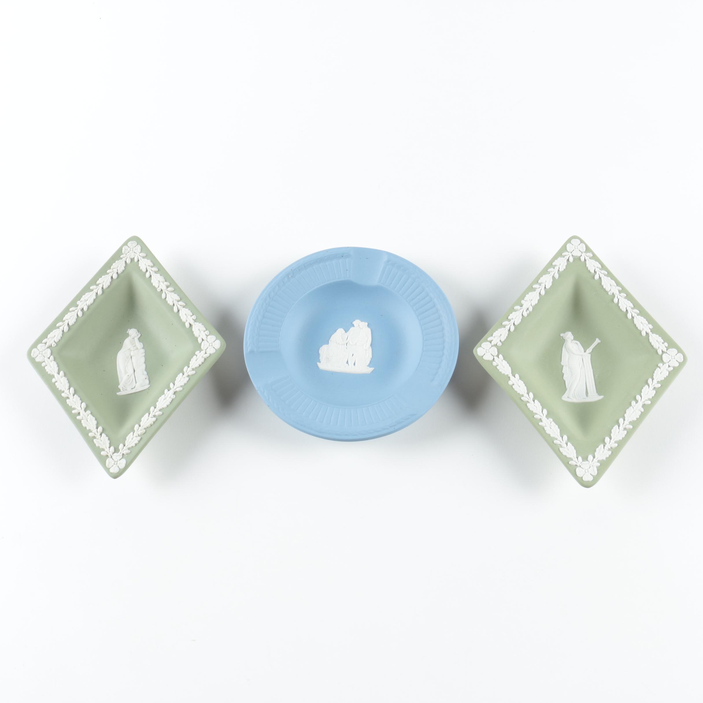 Wedgwood Jasperware Ash Receiver and Trinket Dishes