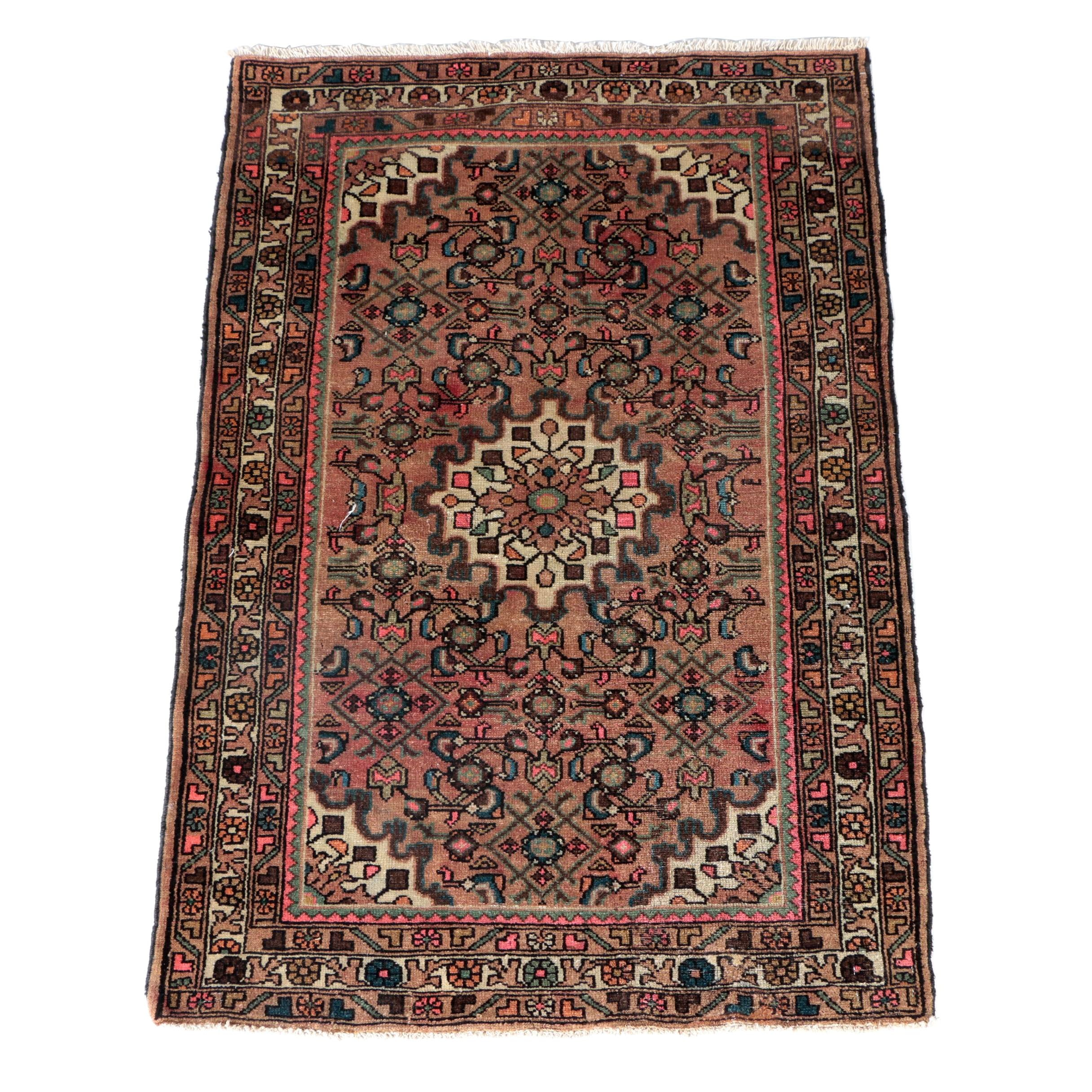 Hand-Knotted Kashan Area Rug