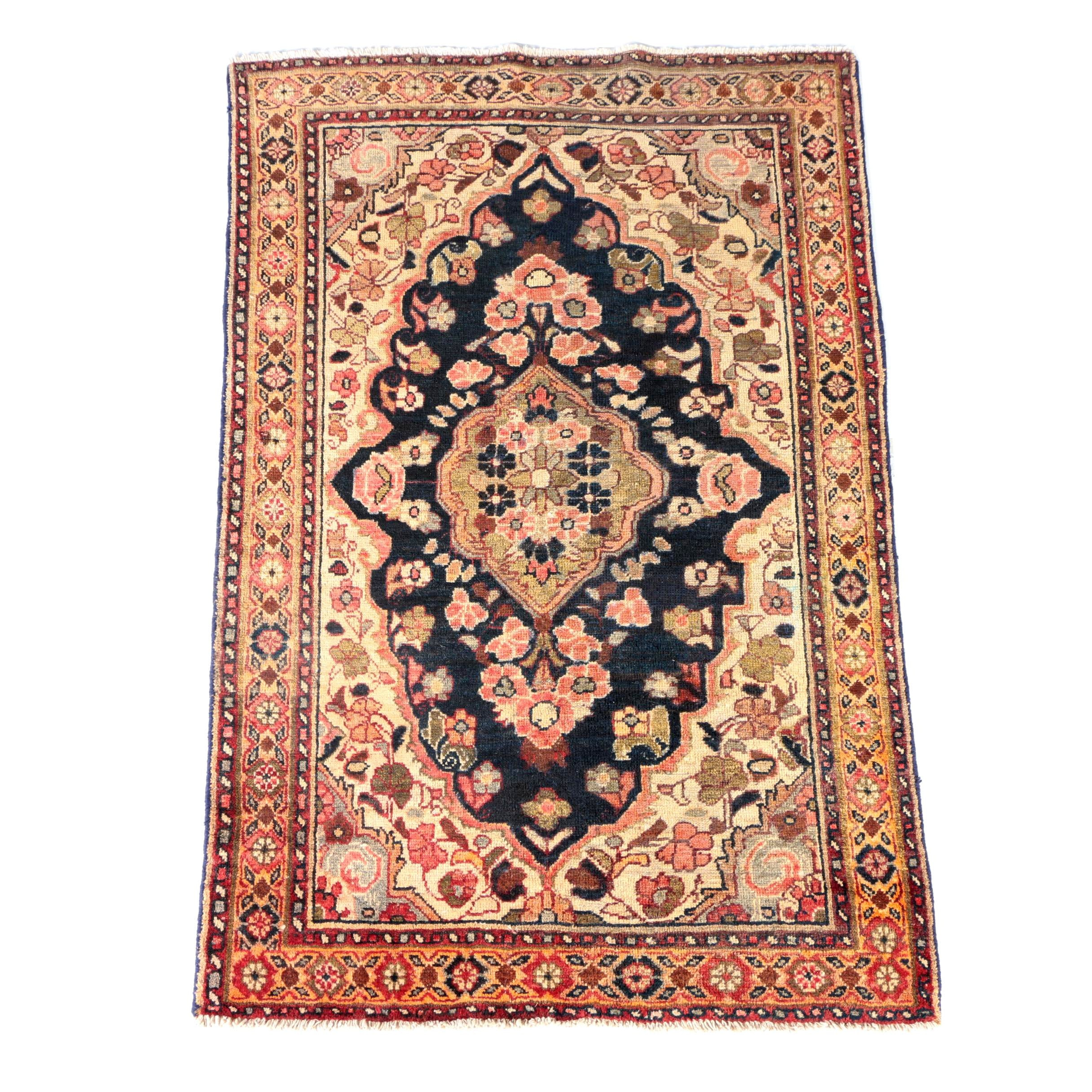 Hand-Knotted Persian Jozan Area Rug