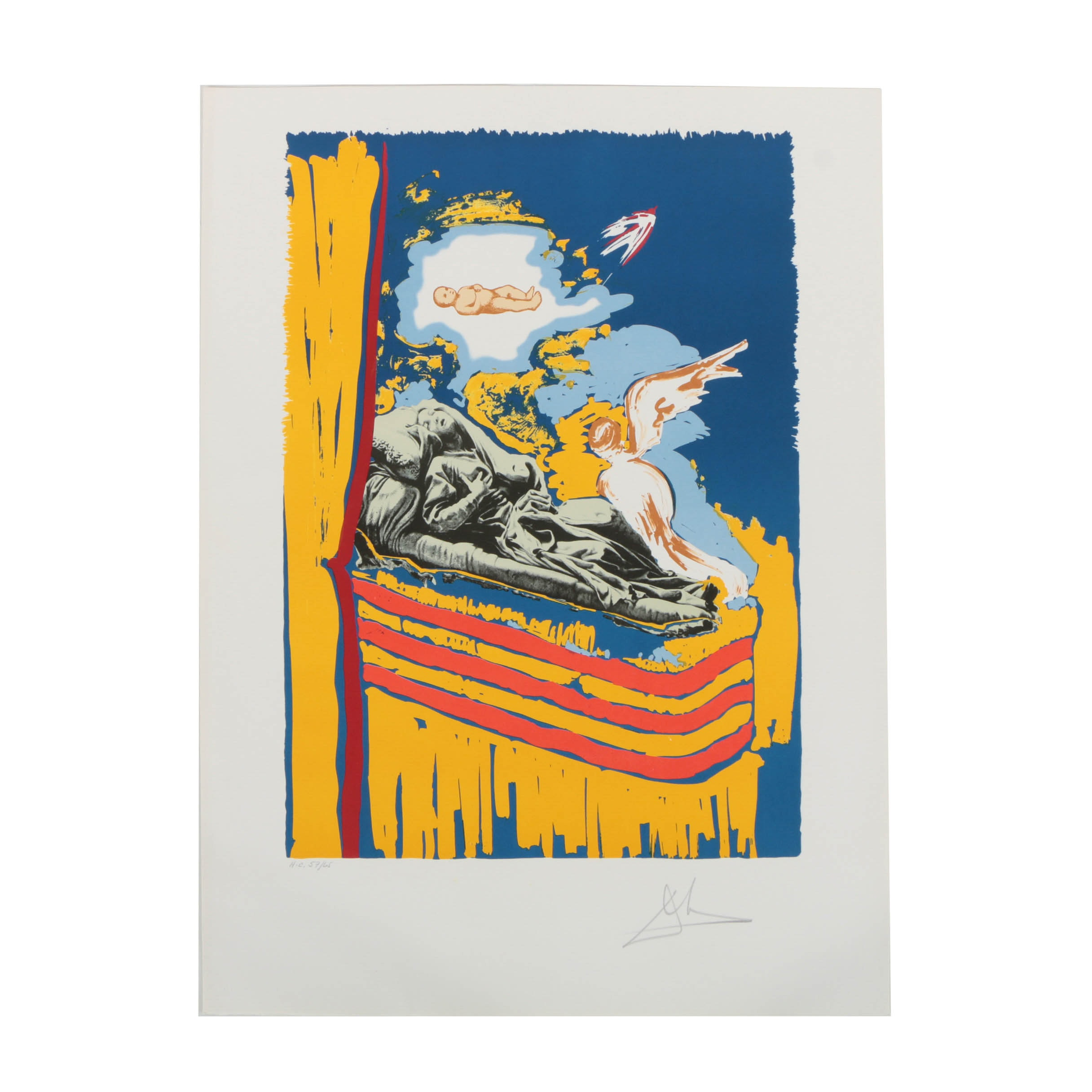 """Salvador Dalí Limited Edition Lithograph on Paper """"The Immaculate Conception"""""""