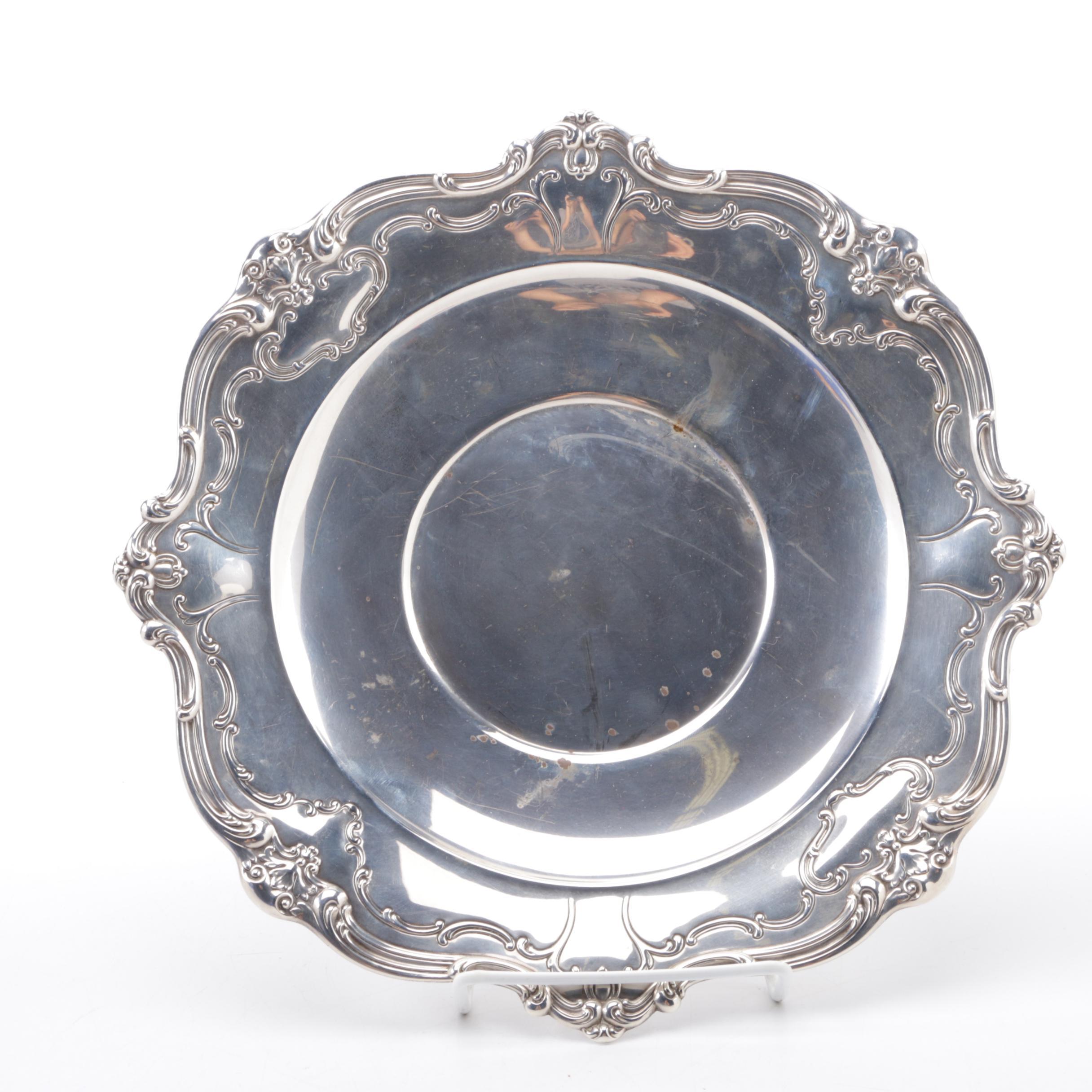 Chantilly Duchess Sandwich Plate Sterling Silver Gorham
