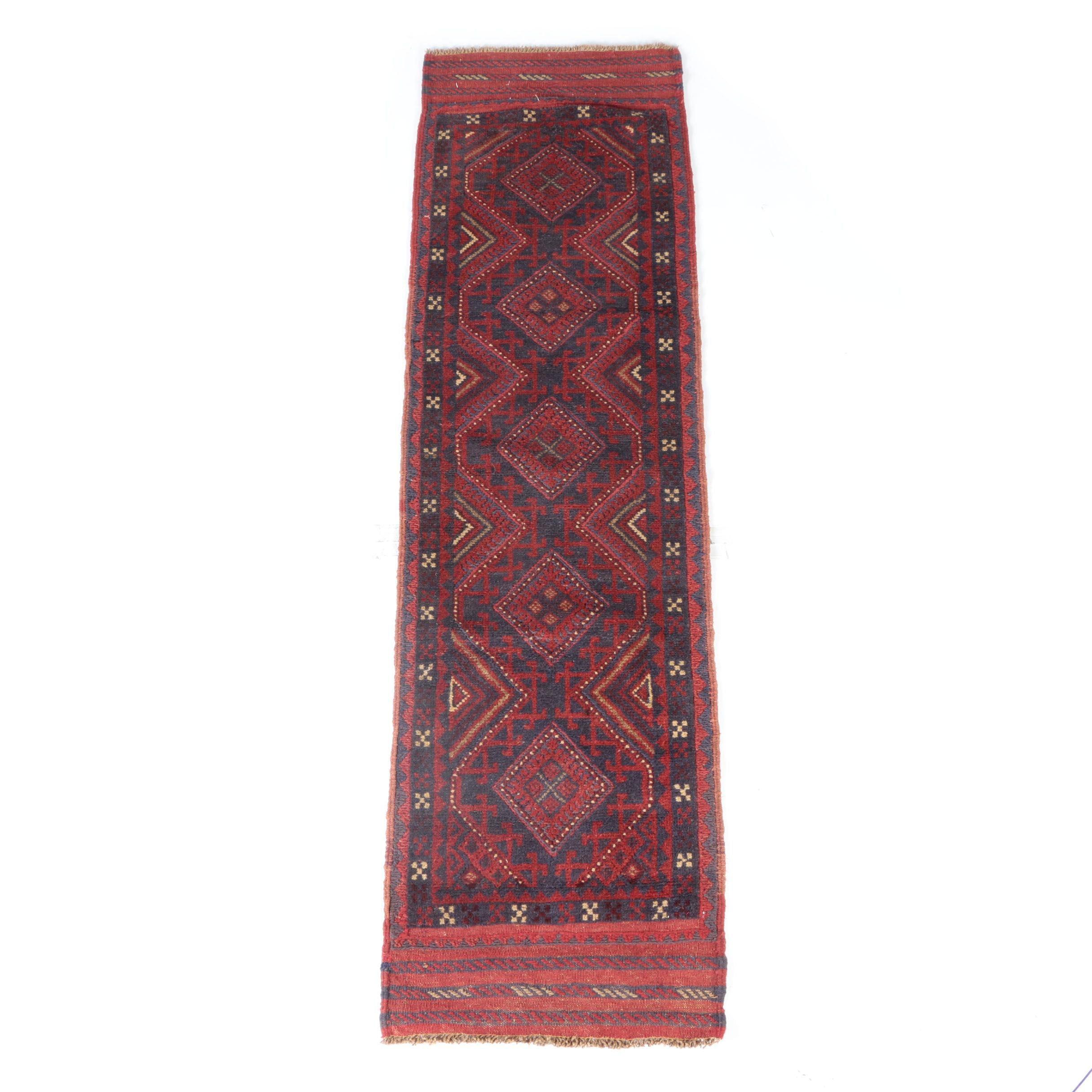 Hand-Knotted Baluch Carpet Runner