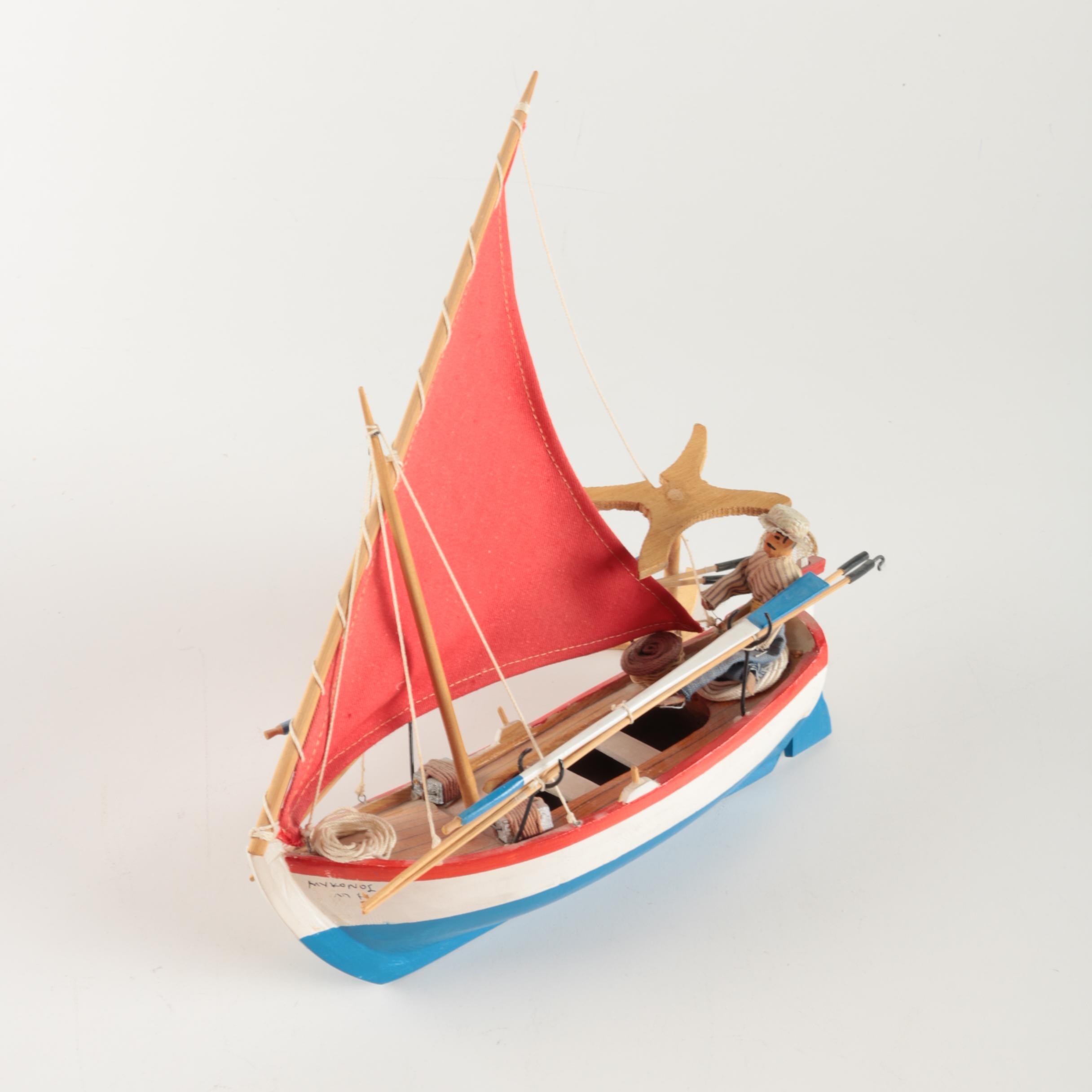 Decorative Lateen-rigged Sailboat