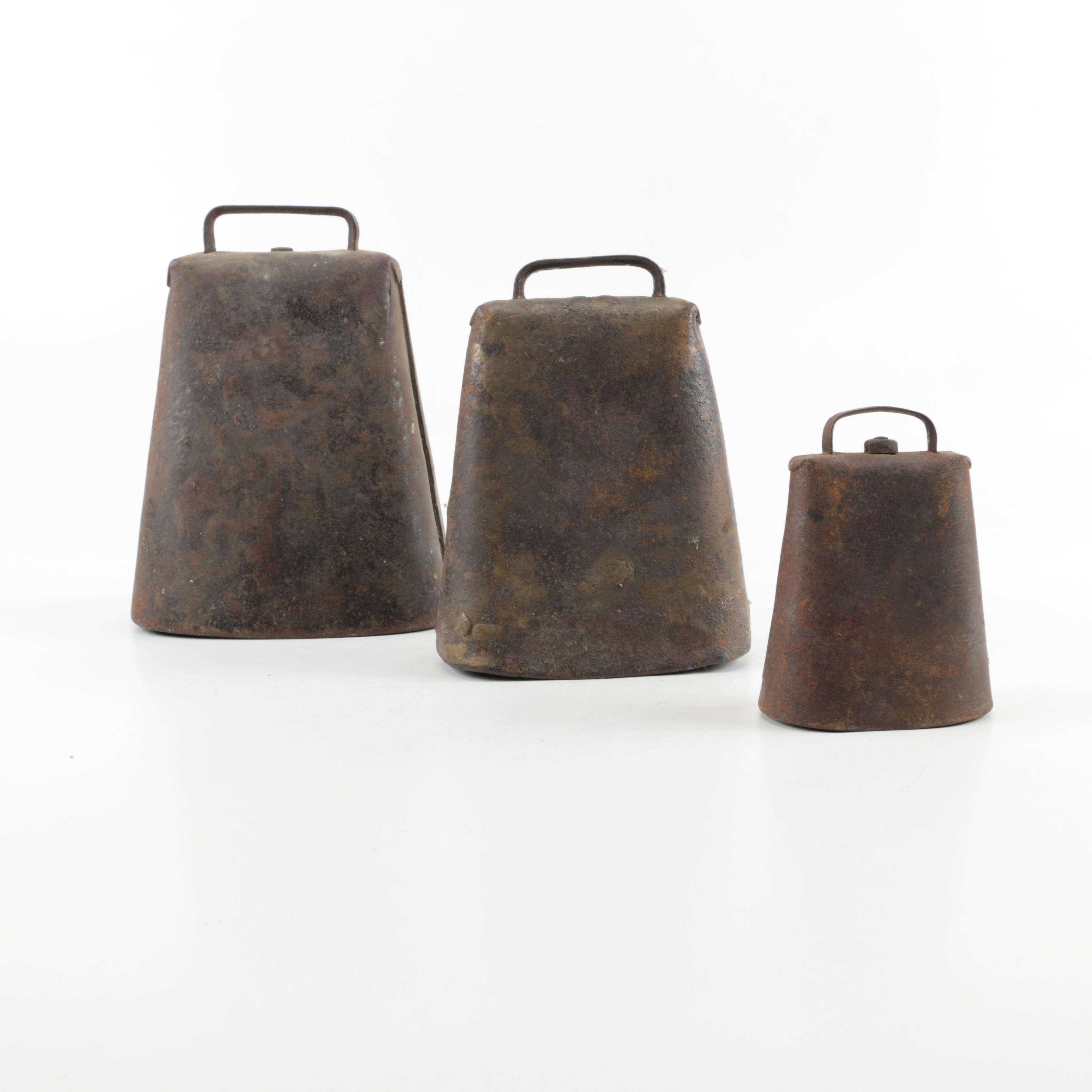 Collection of Three Vintage Cowbells