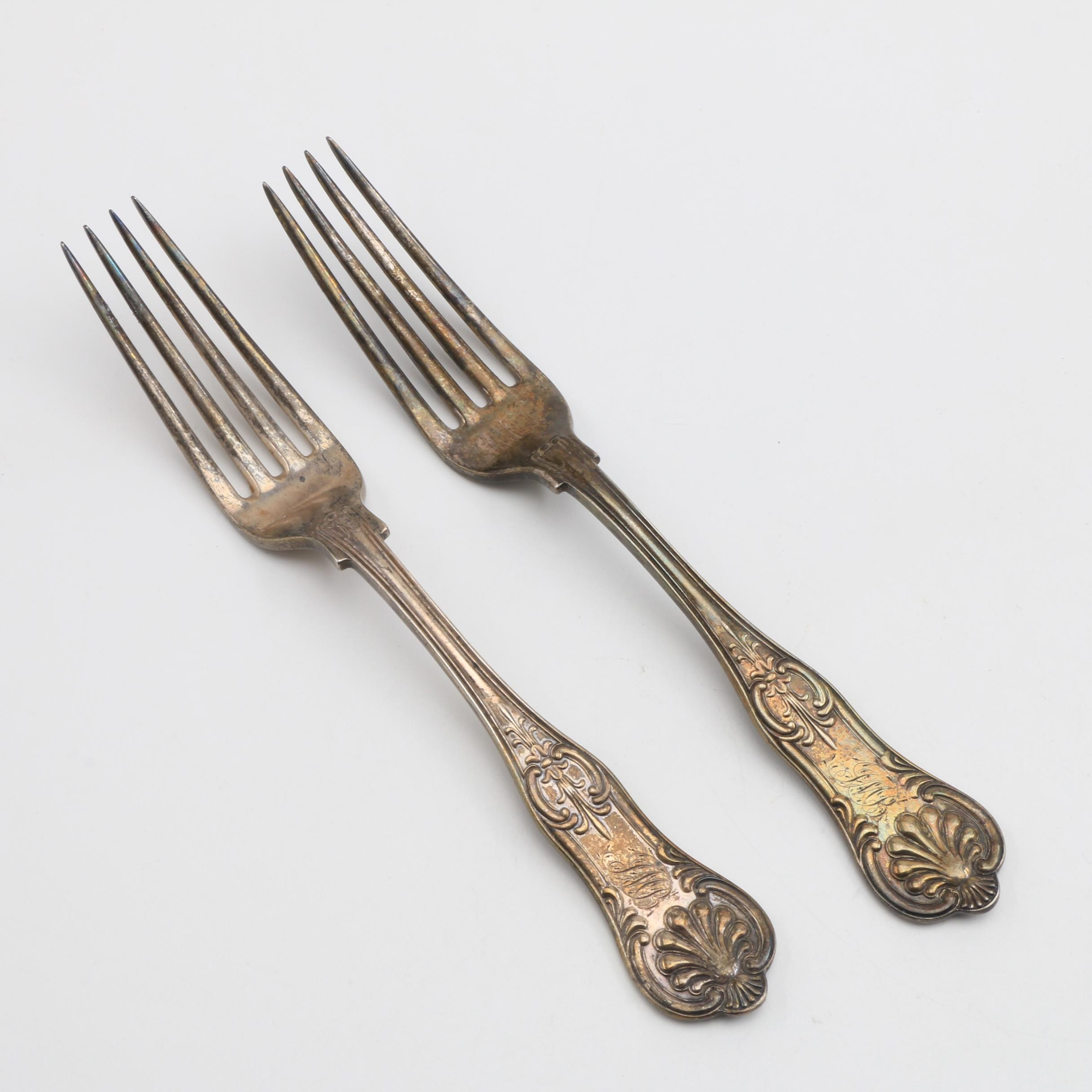 Two Tiffany & Co Sterling Silver Dinner Forks