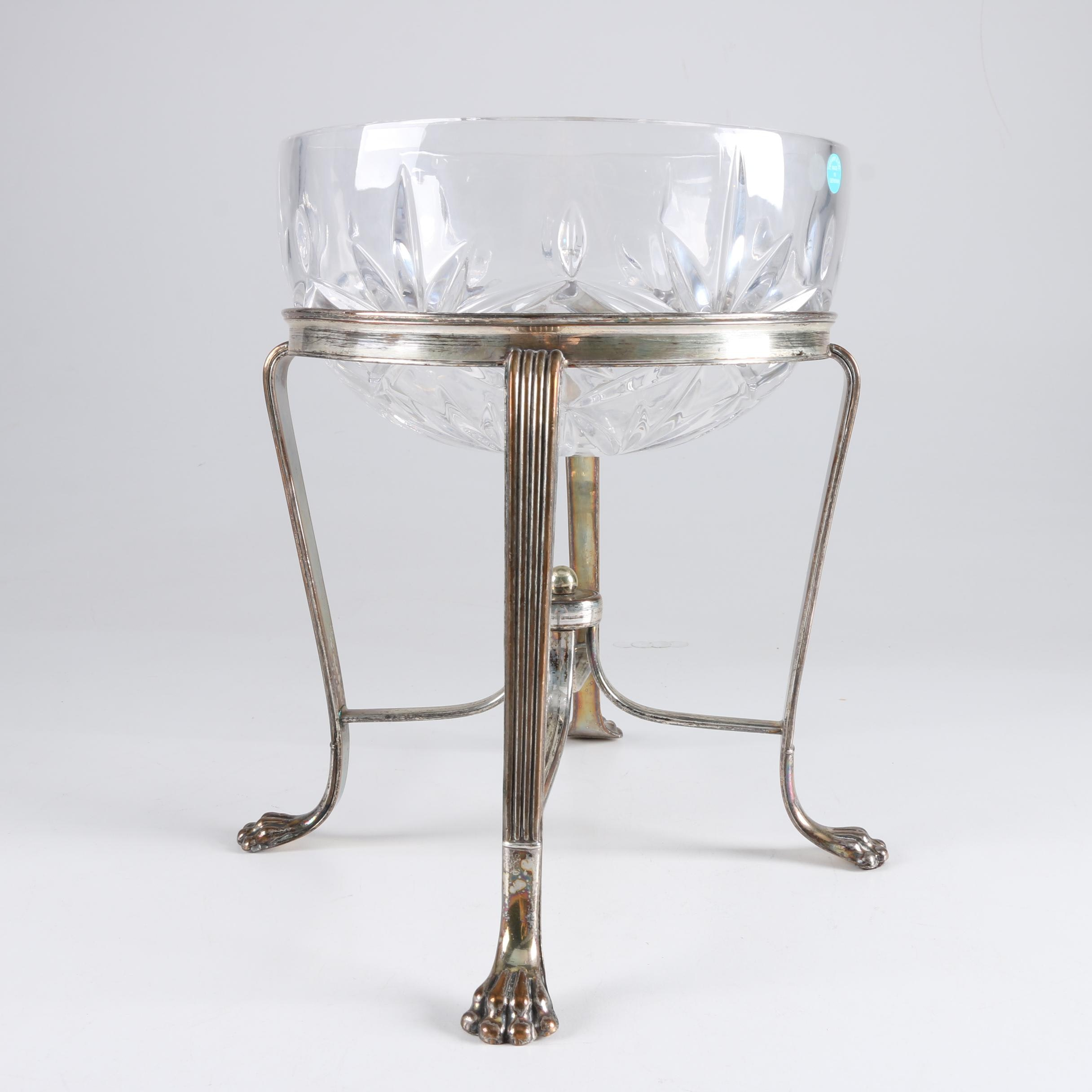 Tiffany & Co. Crystal Bowl with Stand