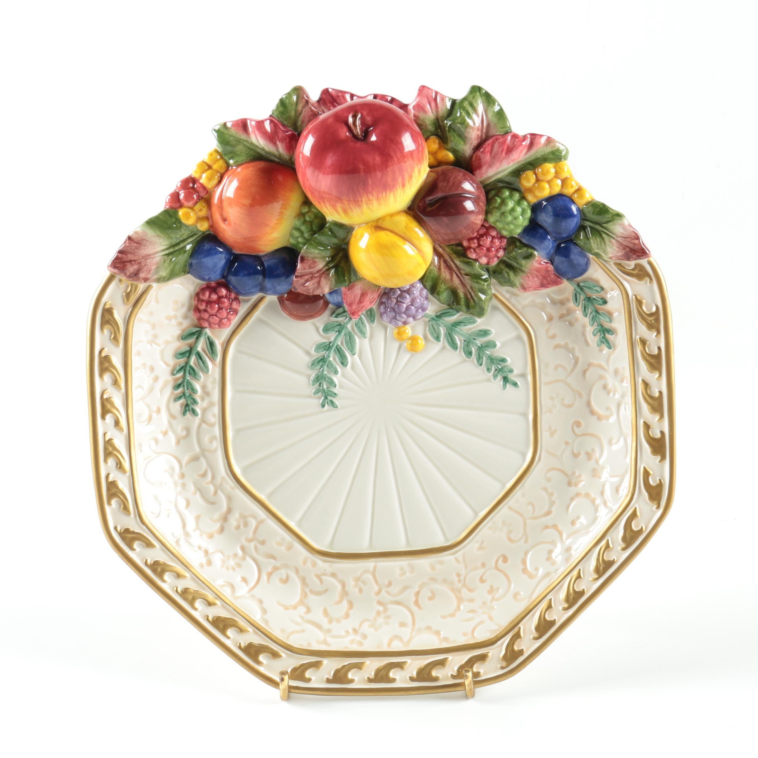 Fitz and Floyd Decorative Fruit Plate