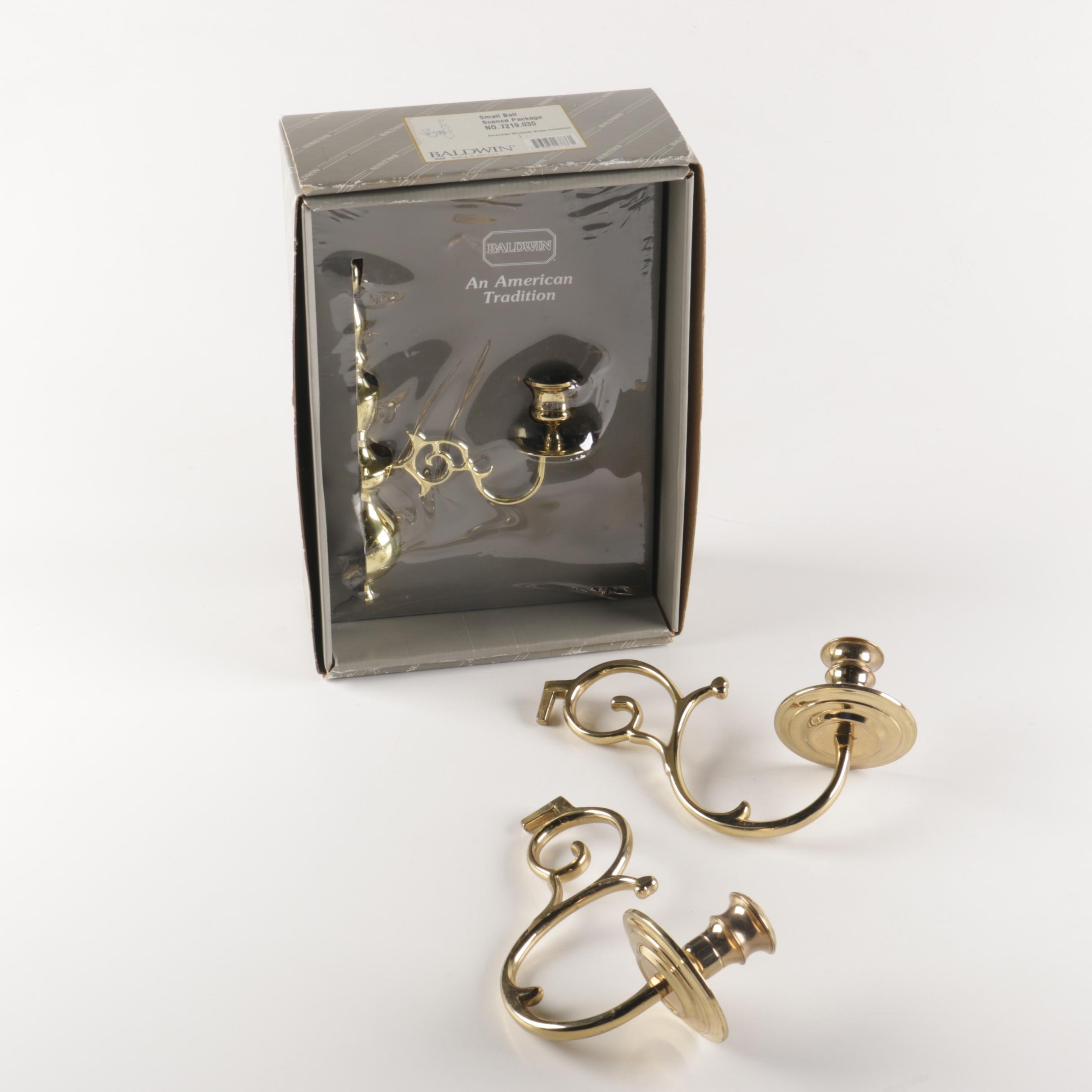 Brass Wall Sconces with Baldwin