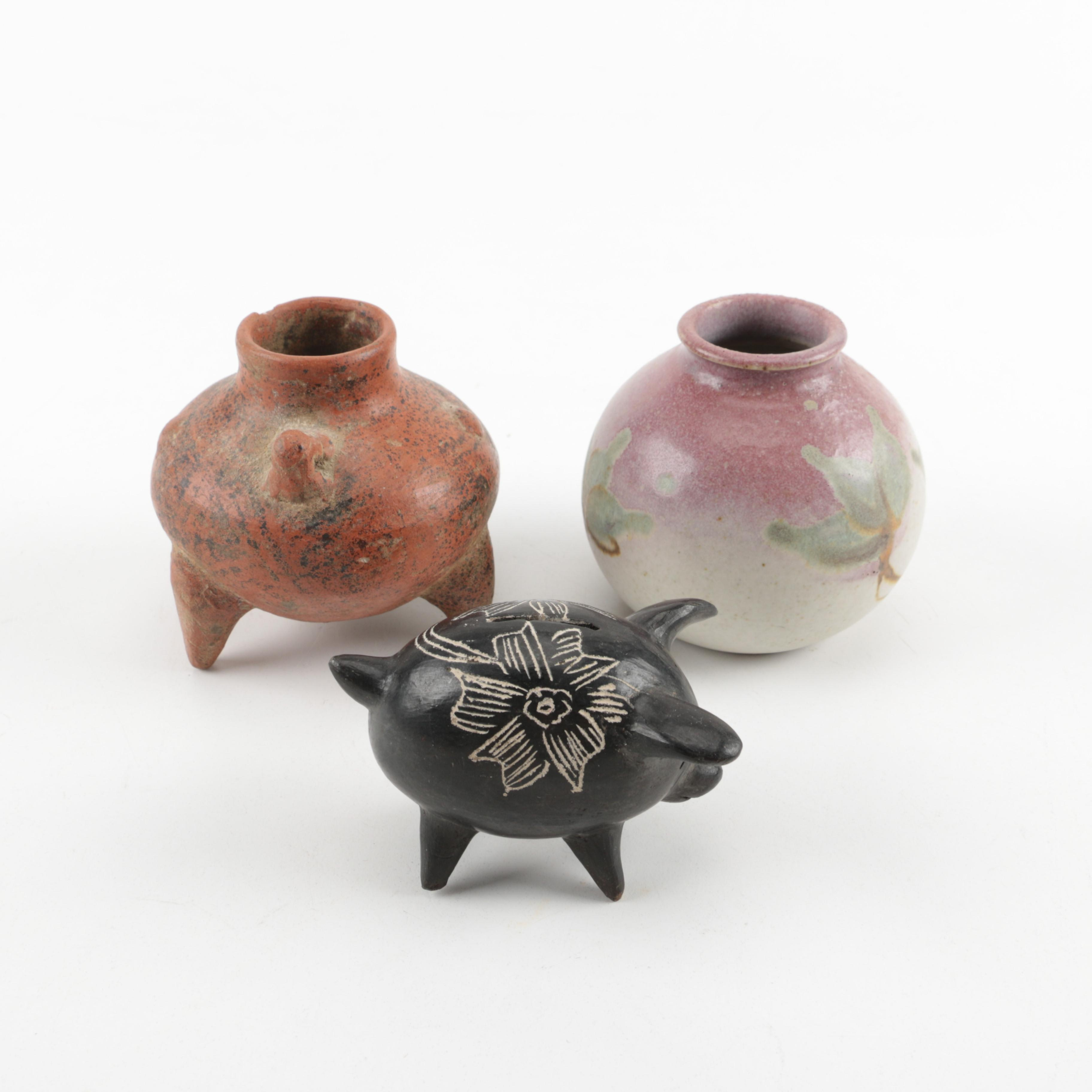 Assortment of Ceramic Vases and Piggy Bank