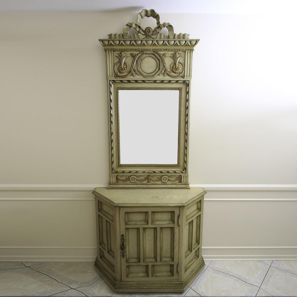 Demilune Credenza with Mirror