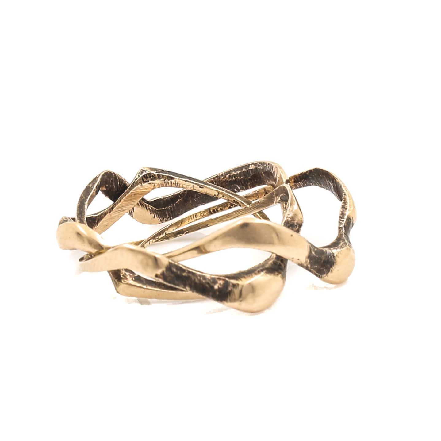 14K Yellow Gold Puzzle Ring