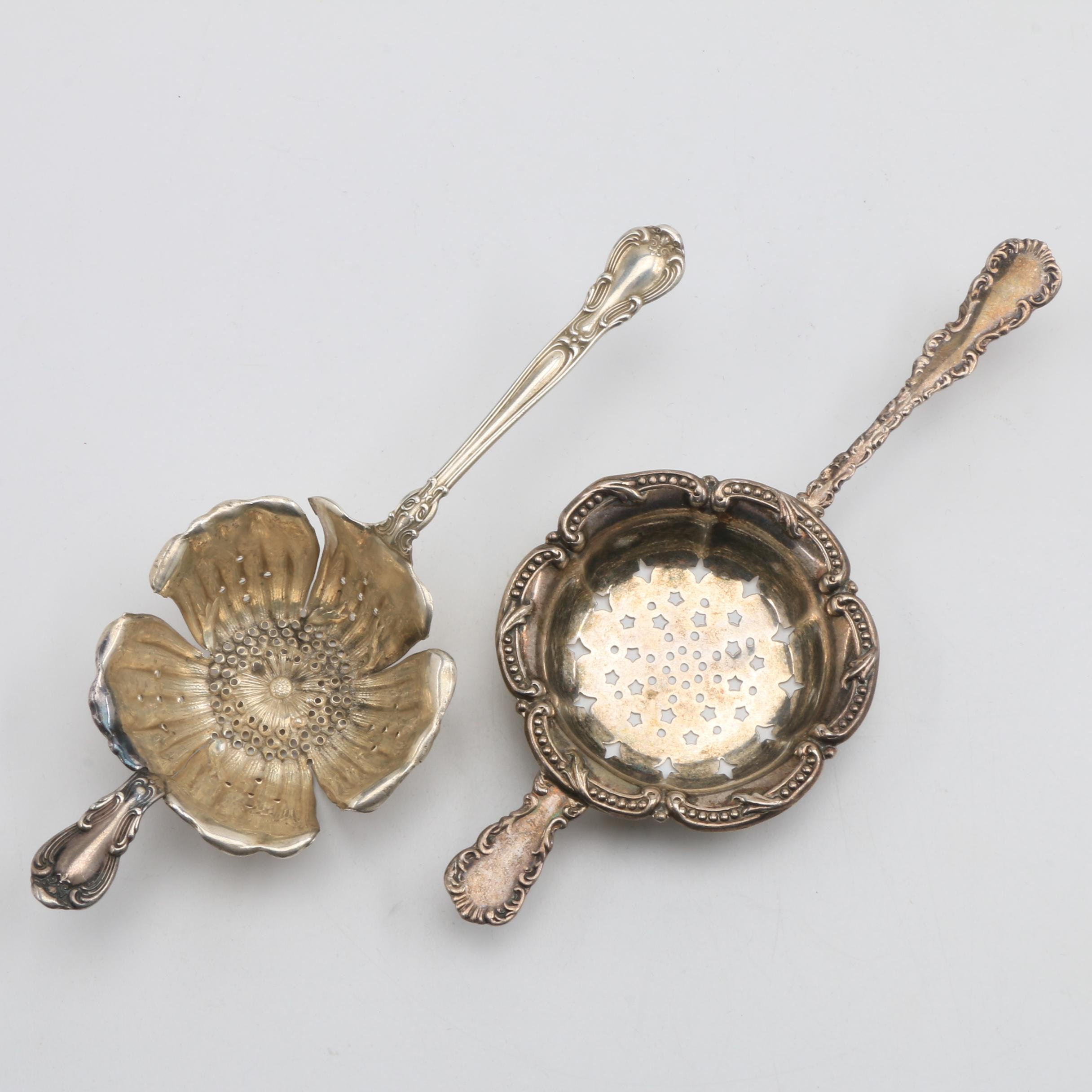Gorham and Roden Brother Sterling Silver Tea Strainers