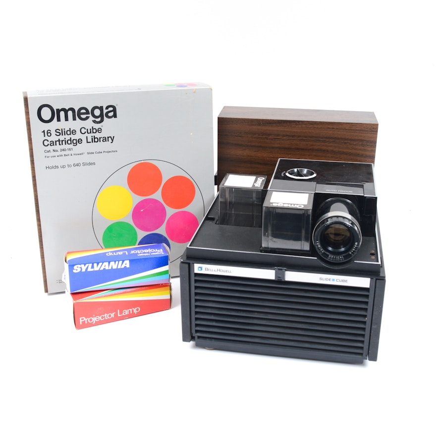 bell howell slide cube with omega cartridges