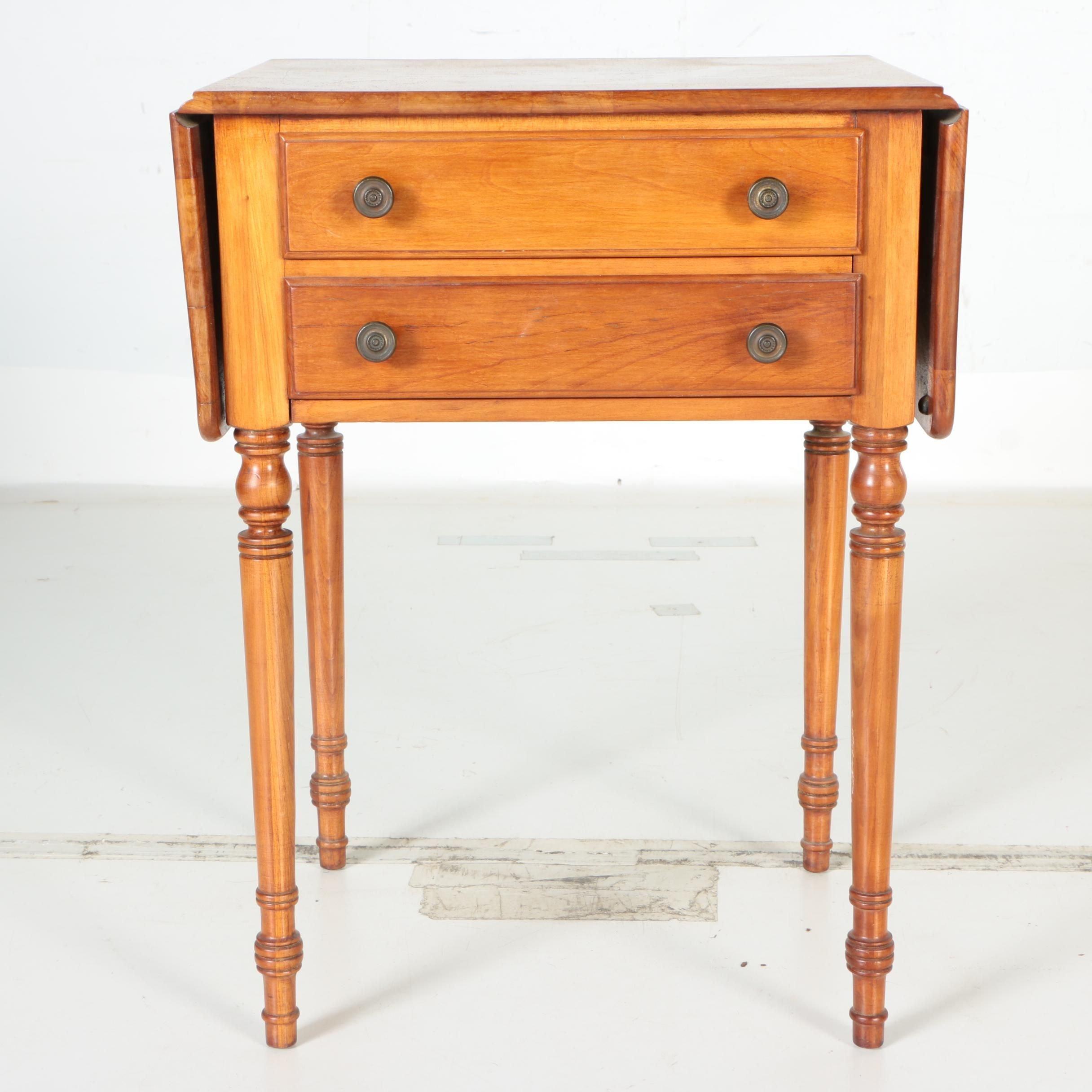 Vintage Drop Leaf Cherry Side Table