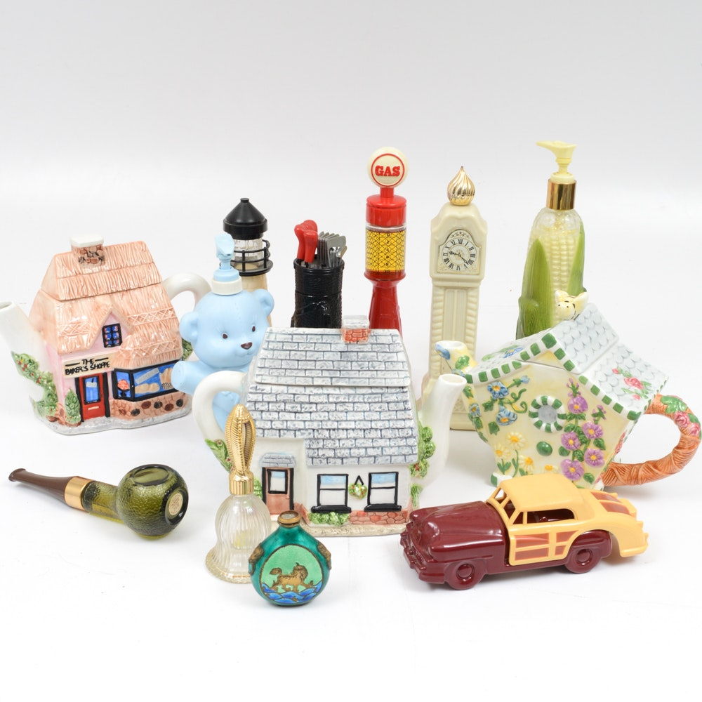 Avon Perfume Bottles and Figural Decor