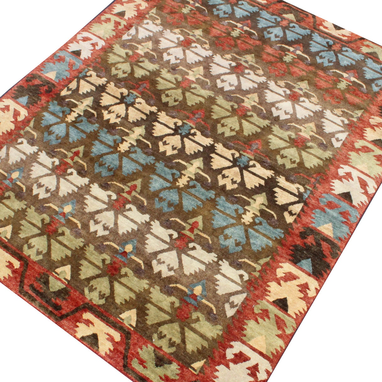 Hand-Knotted Gabbeh Area Rug