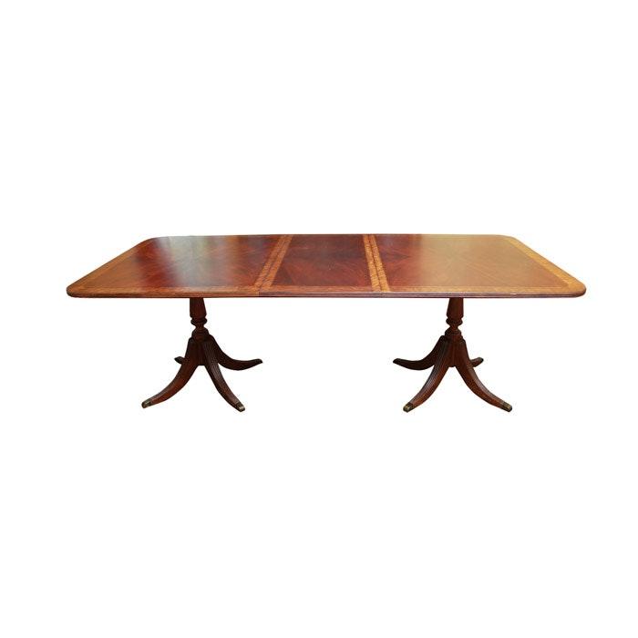 Duncan Phyfe Style Mahogany Dining Table