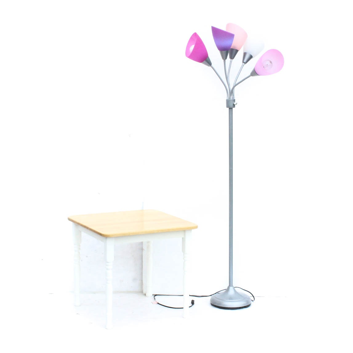 Medusa Floor Lamp and End Table