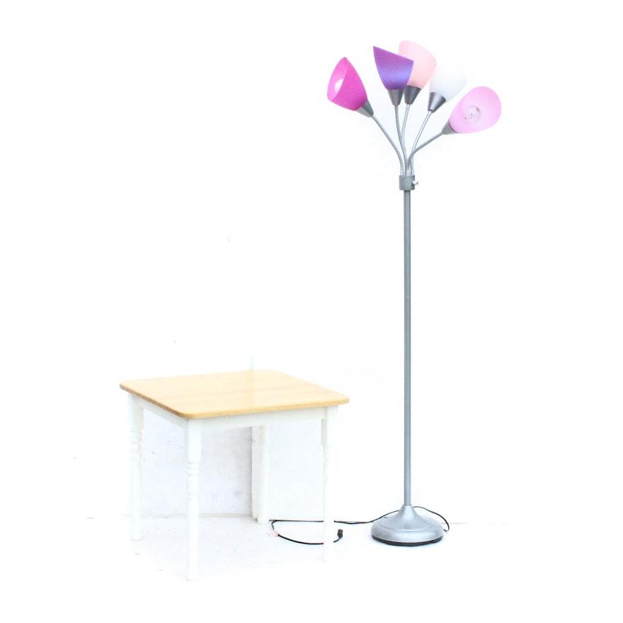 Medusa floor lamp and end table ebth medusa floor lamp and end table aloadofball Gallery