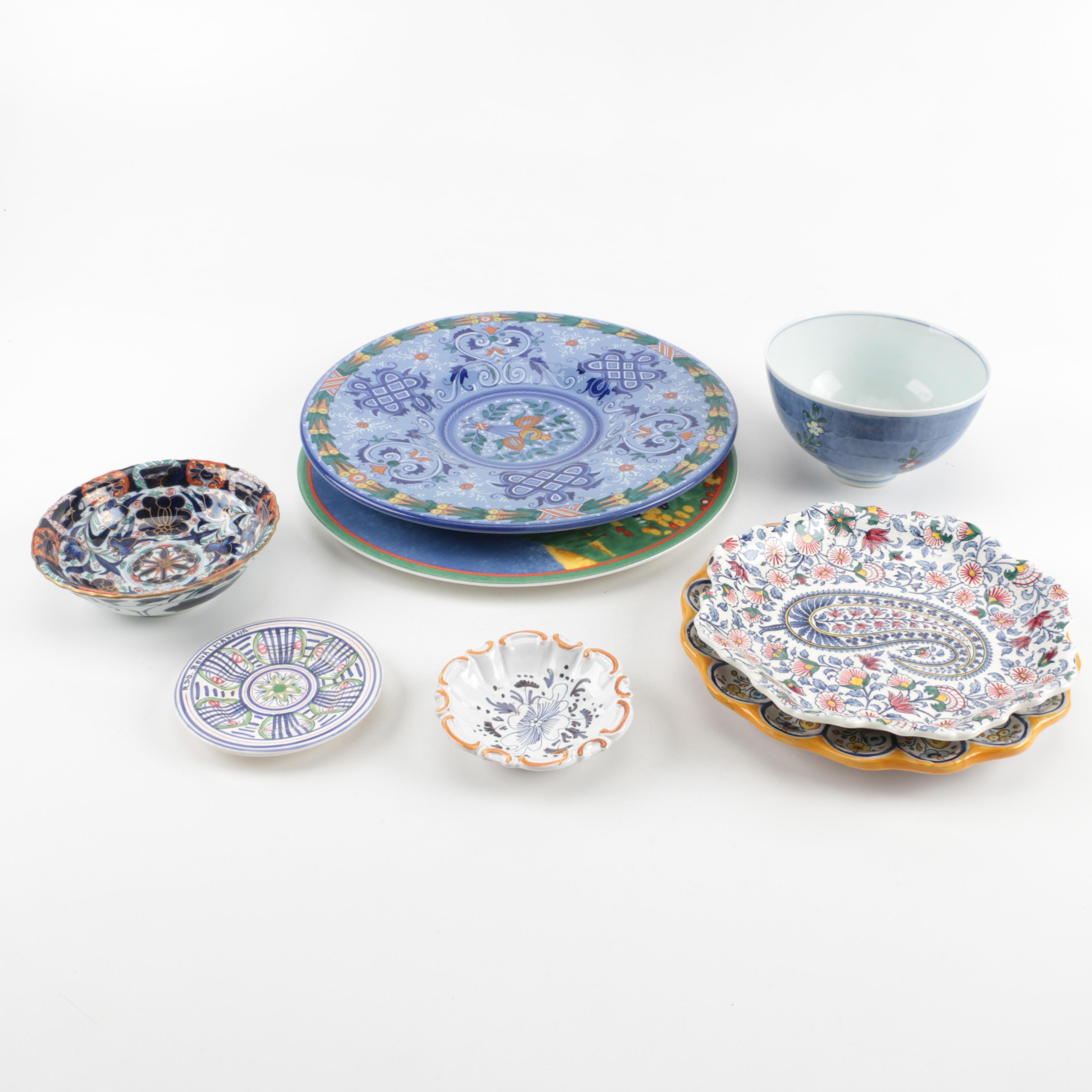 International Hand Painted Ceramic Servingware