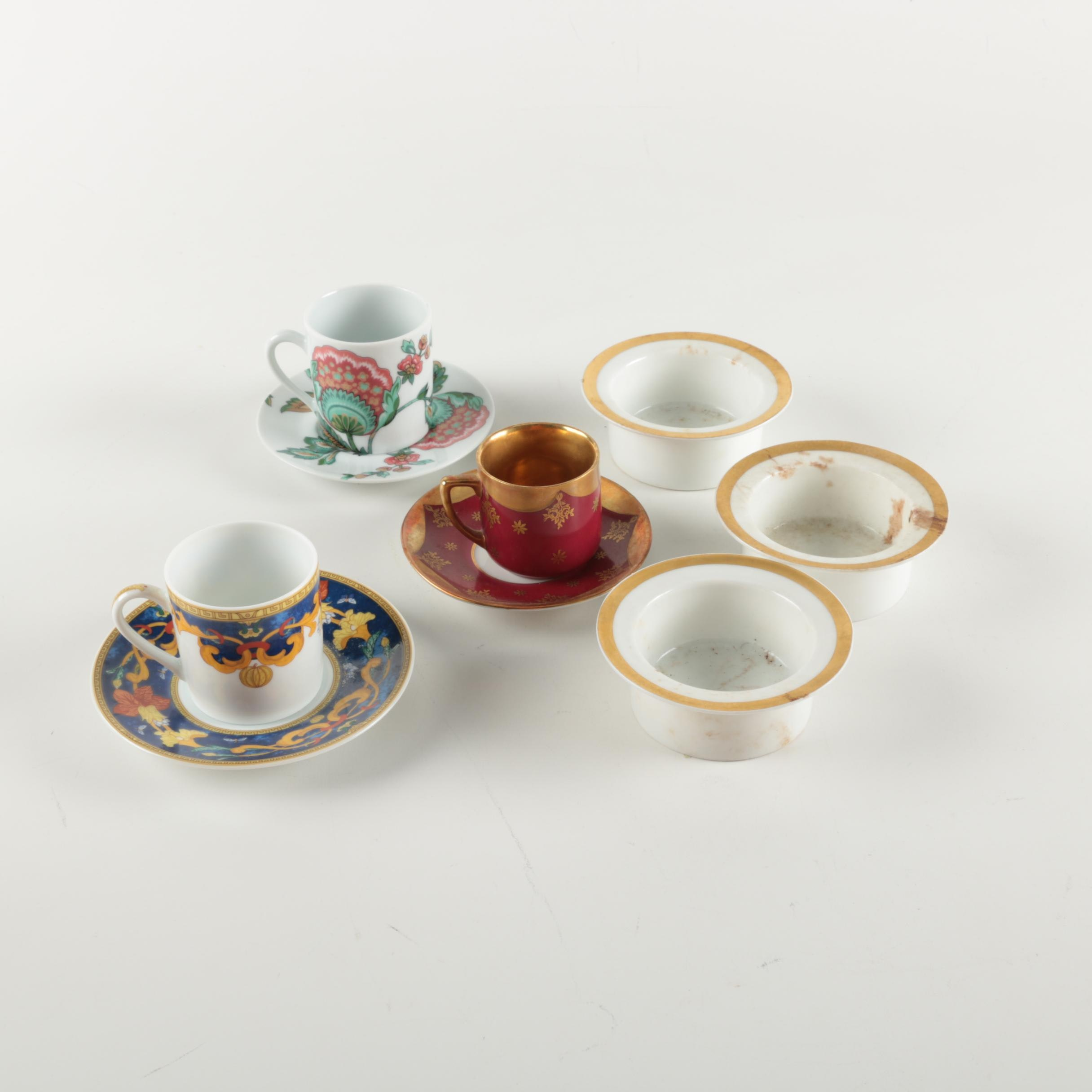 Assortment of Tableware Including Bavaria and Bernardaud Limoges