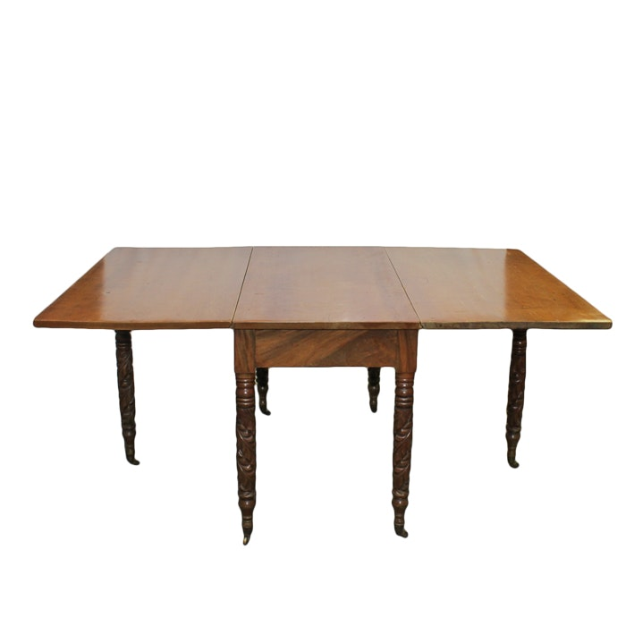 Antique Late Classical Drop-Leaf Table